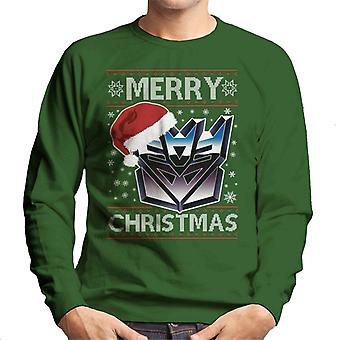 A Decepticon Merry Christmas Transformers Men's Sweatshirt