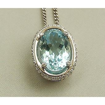 White gold necklace with a Topaz pendant