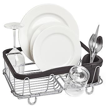Umbra Sinkin Multi Use Dish Rack Black