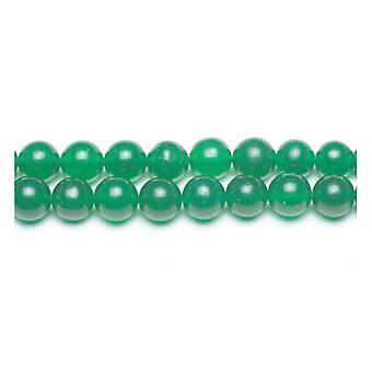 Strand 45+ Green Malaysian Jade 8mm Plain Round Beads GS9952-3