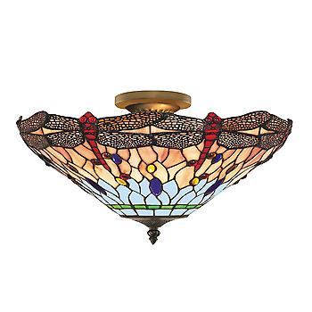 Searchlight 1289-16 Dragonfly Tiffany Ceiling Uplighter