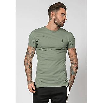 Religion Mission Block T-shirt In Army Green