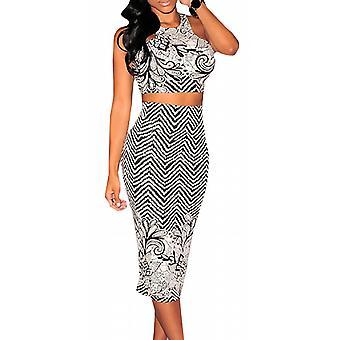 Waooh - Set top och hud-tight kjol mönstrad Wakya