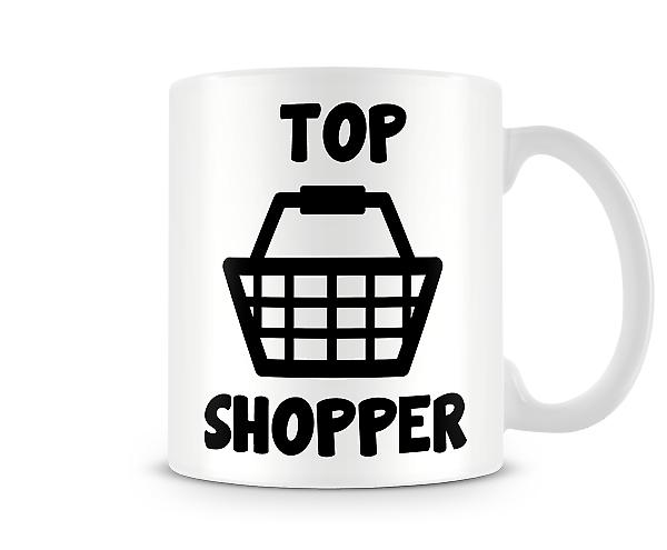 Decorative Writing Top Shopper Printed Text Mug