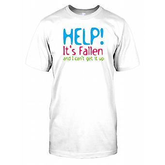 Hilfe! Es hat gefallen und ich kann nicht aufstehen es - Witz-Herren-T-Shirt