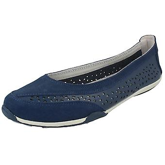 Ladies Down To Earth Suede Leather Ballerinas F80448
