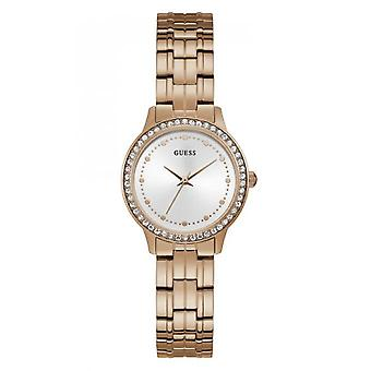 CHELSEA W1209L3 Guess watch - Watch steel Rose Gold with crystals woman