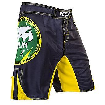 VM Mens All Sport MMA trening kampen Shorts - svart/gul