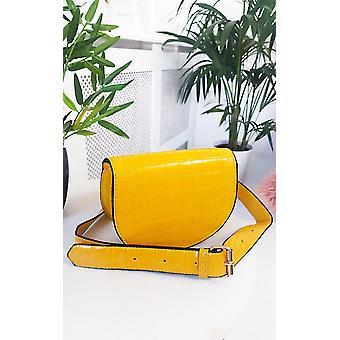IKRUSH dame Tasha imiteret læder Croc Print Bum taske
