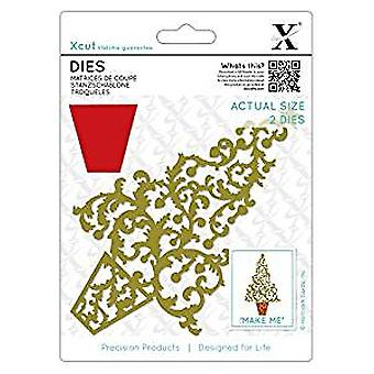 Xcut Dies Ornate Christmas Tree (2pcs) (XCU 503362)