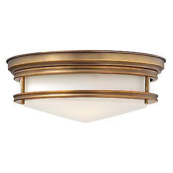 Elstead-3 licht semi-flush plafond licht geborsteld brons-HK/HADLEY/F BR