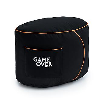 GAME OVER Eternal Fire (Orange) Bean Bag Gaming Footstool Pouffe