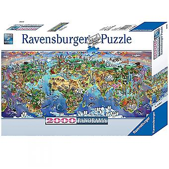 Ravensburger World Wonders Puzzle panoramico 2000 pezzi