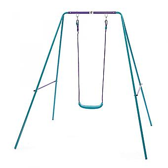 Plum Metal Single Swing Set Blue/Purple