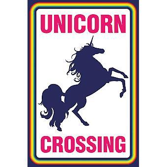 Affisch-Studio B-Unicorn korsning 36x24