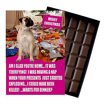 Bullmastif Funny Christmas Gift For Dog Lover Boxed Chocolate Greeting Card Xmas Present