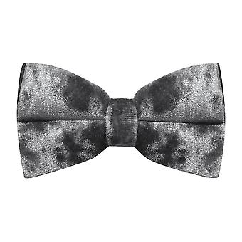Luxury Silver Crushed Velvet Bow Tie