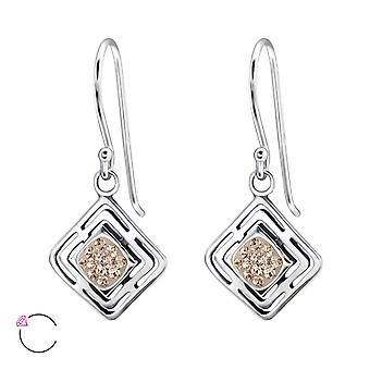 Square crystal from Swarovski® - 925 Sterling Silver Earrings - W24400X