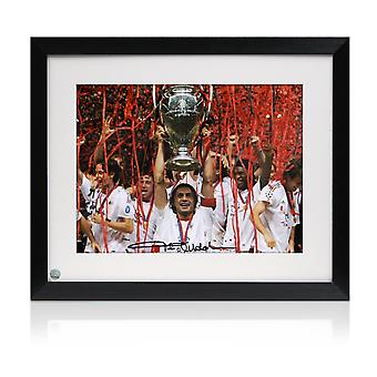 Framed Paolo Maldini Signed AC Milan Photo: Champions League Winner