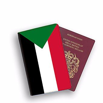 SUDAN Flag Passport Holder Style Case Cover Protective Wallet Flags design