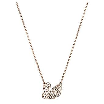 Swarovski Leaning Iconic Swan - white - rose gold-plated