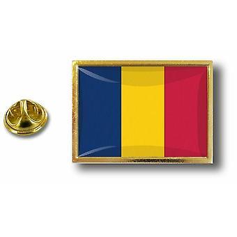 pins pin badge pin's metal  avec pince papillon drapeau tchad tchadien