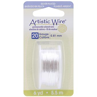Artistic Wire Dispenser 6 Yards Pkg Silver 20 Gauge Awd20s
