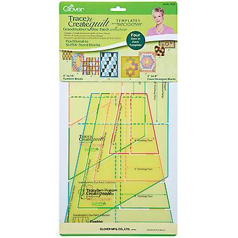Trace 'N Create Quilt Templates With Nancy Zieman Grandmother's One Patch Collection 9525