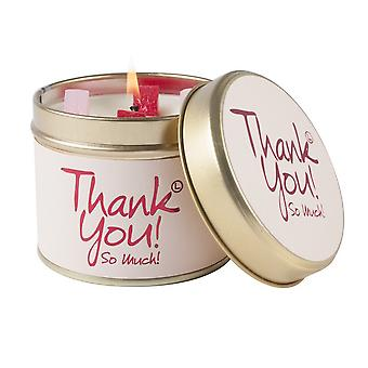 Lily Flame Scented Candle in a presentation Tin - Thank You