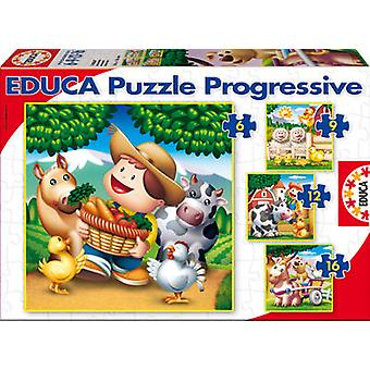 Educa 6-9-12-16 Tiere (Spielzeuge , Brettspiele , Puzzles)