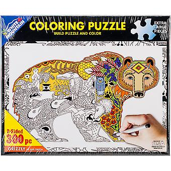 Coloring Puzzle 300pcs-Grizzly 1201