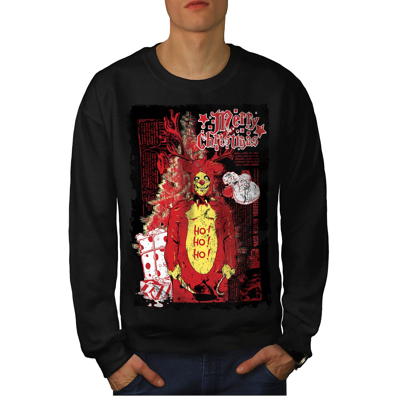 Zombie Horror Christmas Men Black Sweatshirt | Wellcoda