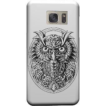 Eule-Porträt-Abdeckung für Galaxy S6 Edge