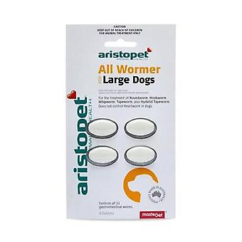 Allwormer Tabs for Lge Dogs 20kg 4 tabs