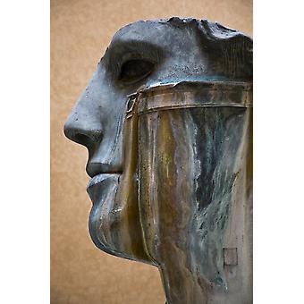 A Contemporary Sculpture By Polish Artist Igor Mitoraj In A Roman Courtyard Rome Italy PosterPrint