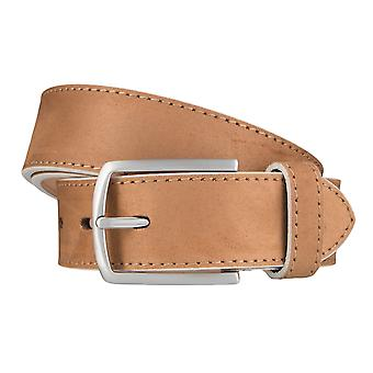 LLOYD Men's Belts Gürtel Herrengürtel Veloursleder Cognac 3955