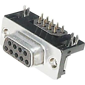D-SUB receptacles 90 ° Number of pins: 9 Soldering ASSMANN WSW A-DF 09 A/KG-F 1 pc(s)