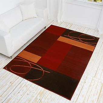 Design velour carpet Tony red / terra / Brown 101085 fixing
