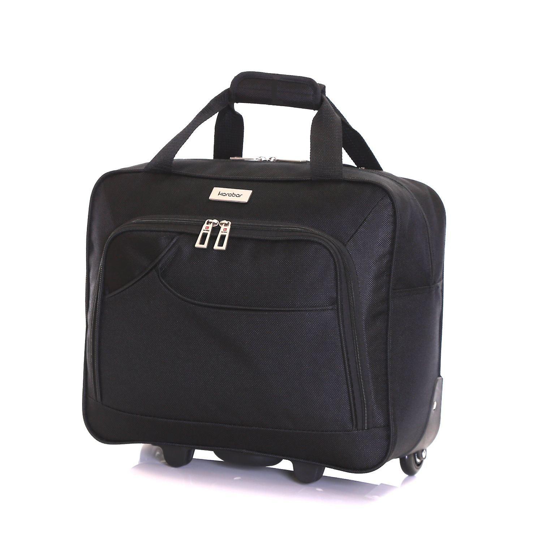 Karabar Brigg Wheeled Laptop Case, Black
