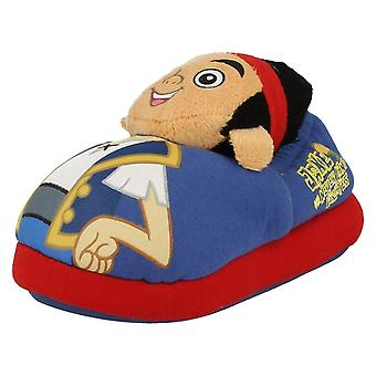 Infant Boys Disney Junior Jake and The Neverland Pirates 3D Slippers