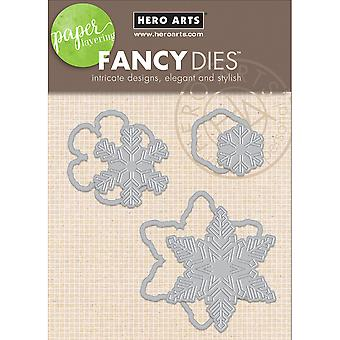 Hero Arts Paper Layering Dies-Snowflakes With Frames DI196