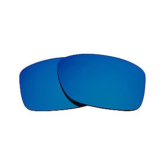 New SEEK Replacement Lenses for Oakley JUPITER SQUARED Grey Blue Mirror