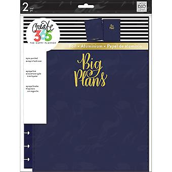 Create 365 Big Snap-In Hard Cover Planner-Navy COLB-8