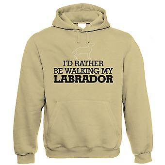 Vectorbomb, I'd Rather be Walking My Labrador, Funny Unisex Hoodie