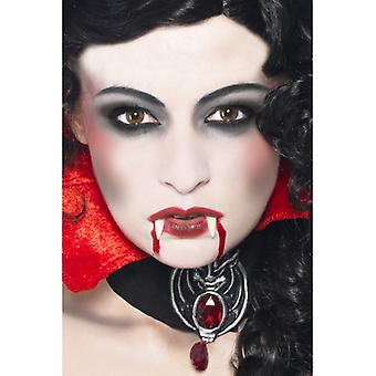 Vampire makeup Kit with fangs sponge complexion and blood in tube