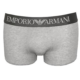 Emporio Armani Premium Stretch Cotton Boxer Trunk, Marl Grey
