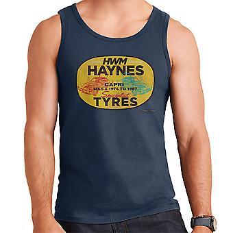 Haynes Brand HWM Ford Capri Specialist Tyres Men's Vest