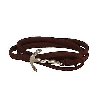 7details premium anchor bracelet for men and women in Caoba dark brown made in Spain