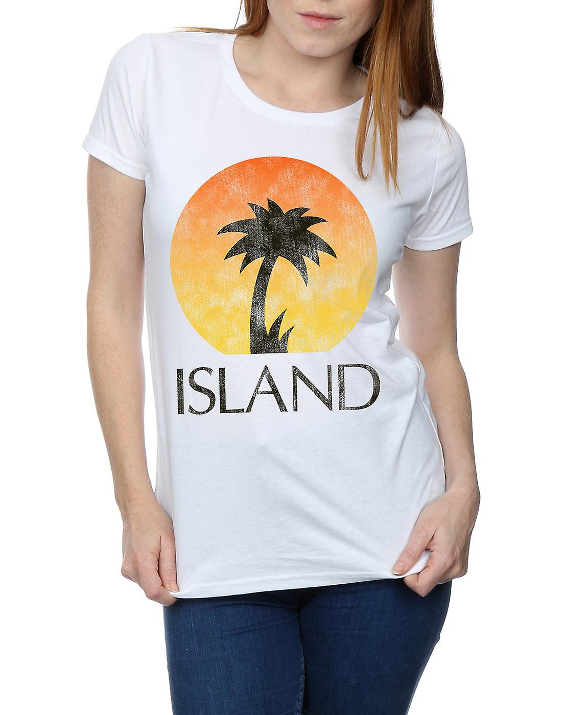 Island Records Women's Distressed Logo T-Shirt