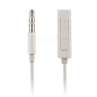 REYTID Headphone Adapter Extension Cable w/ Remote & Volume Control for Apple iPod Shuffle 4th 5th Gen & Nano 4th 5th 6th 7th 8th Generation Classic Touch Earphones Lead Aux Remote